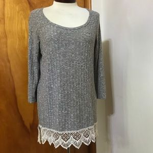 Maurices tunic with crochet